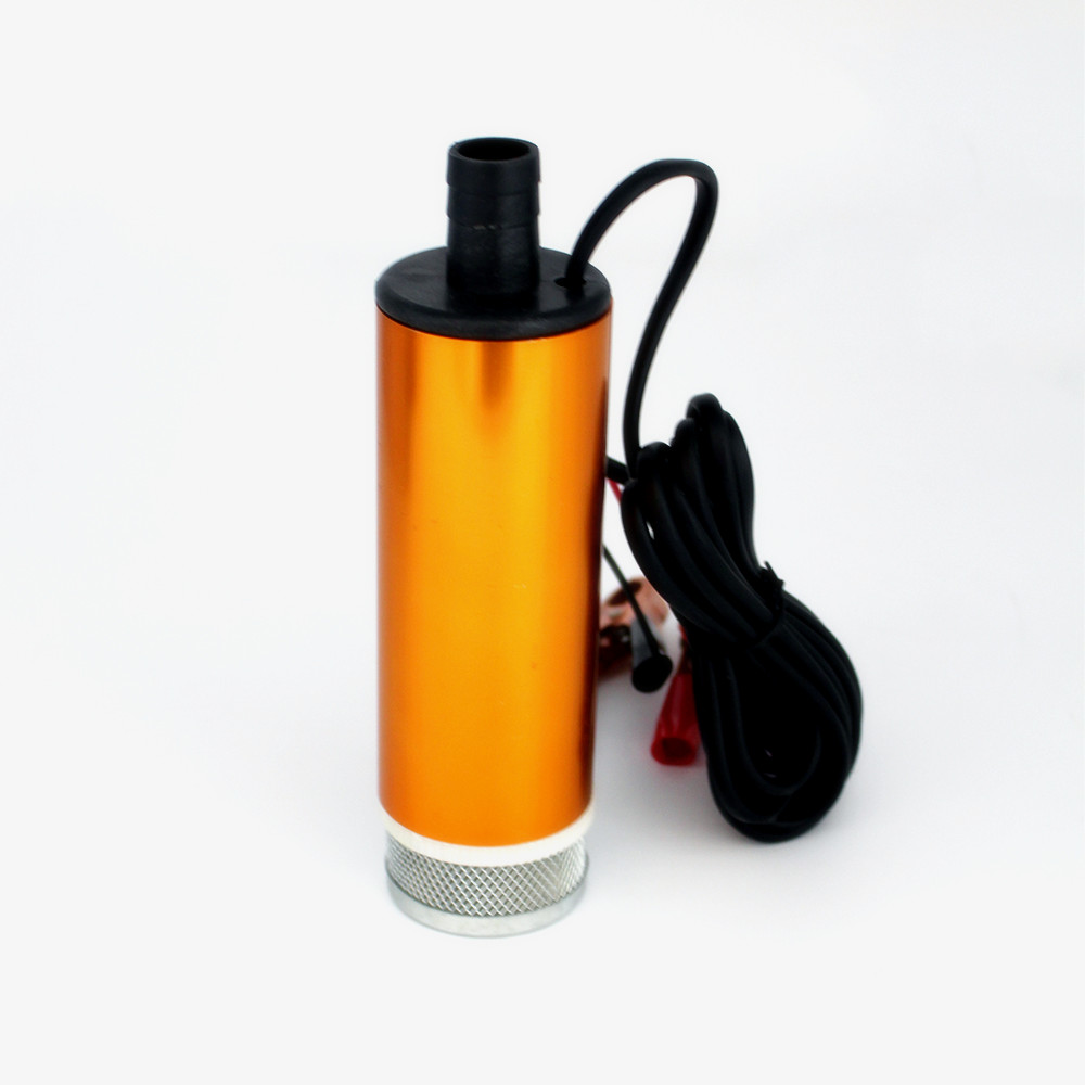 DC 12V Electric Diesel Fuel Pump 51mm 30L/min Lift 3m Water Oil Car Camping Fishing Submersible Transfer Switch Aluminum Alloy