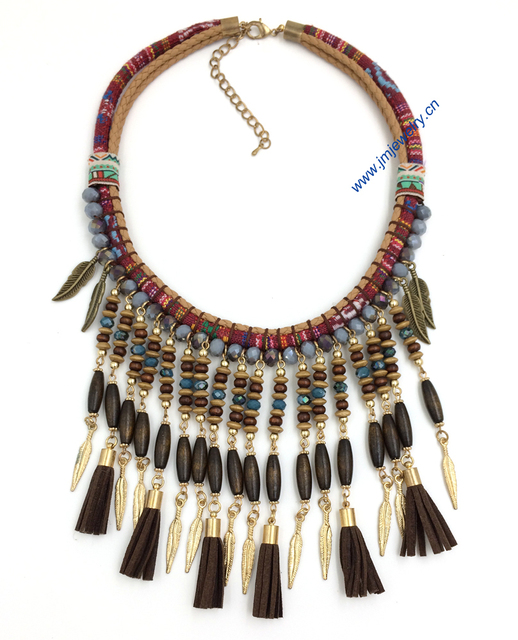 women s clothing accessories Handmade Victorian necklace Bohemian     women s clothing accessories Handmade Victorian necklace Bohemian collier  necklaces long beaded fringe tassel pendants Necklace