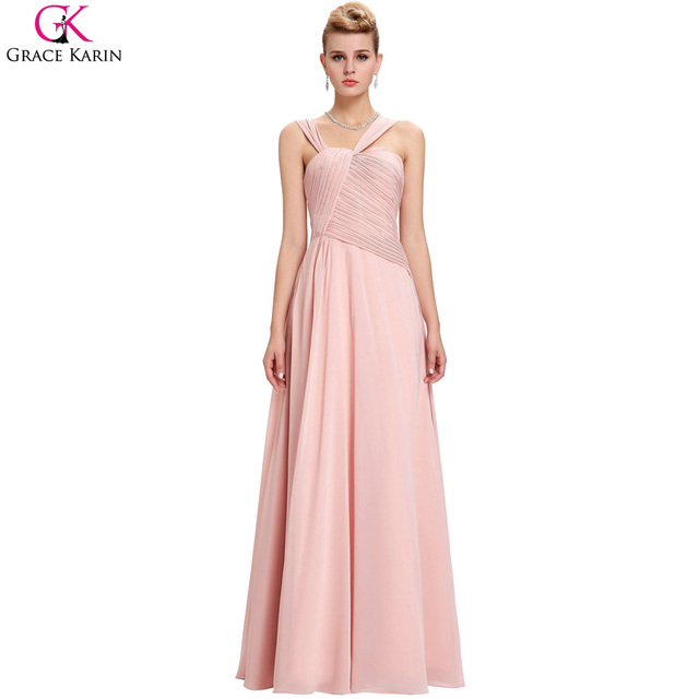 ac2cd4db7935e Grace Karin Blush Pink Bridesmaid Dresses Special Occasion Wedding Events  Chiffon Bridesmaids Gowns Long Bridesmaid Dresses