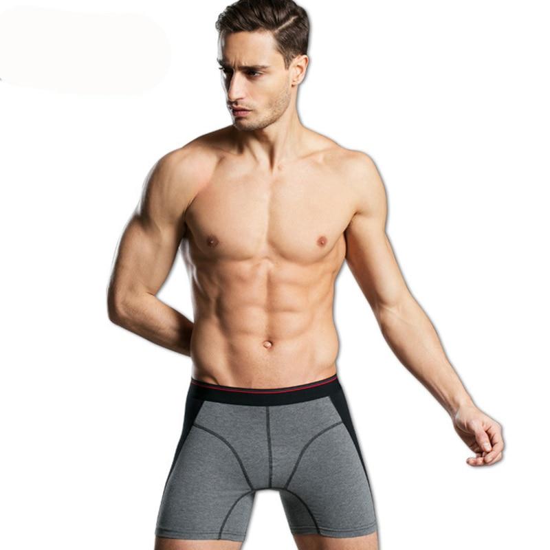 Men Longue Leg Boxers Men Cotton Long Underwear Underpants Boxer Largo Shorts Calzoncillos Hombre Boxer Marca XL XXL XXXL XXXXL