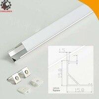 16x16mm Aluminum Extrusion Profile Led Strip Fixture Channel 45 Degree Square Cover Corner Mount Led Aluminum Channel LED Strip