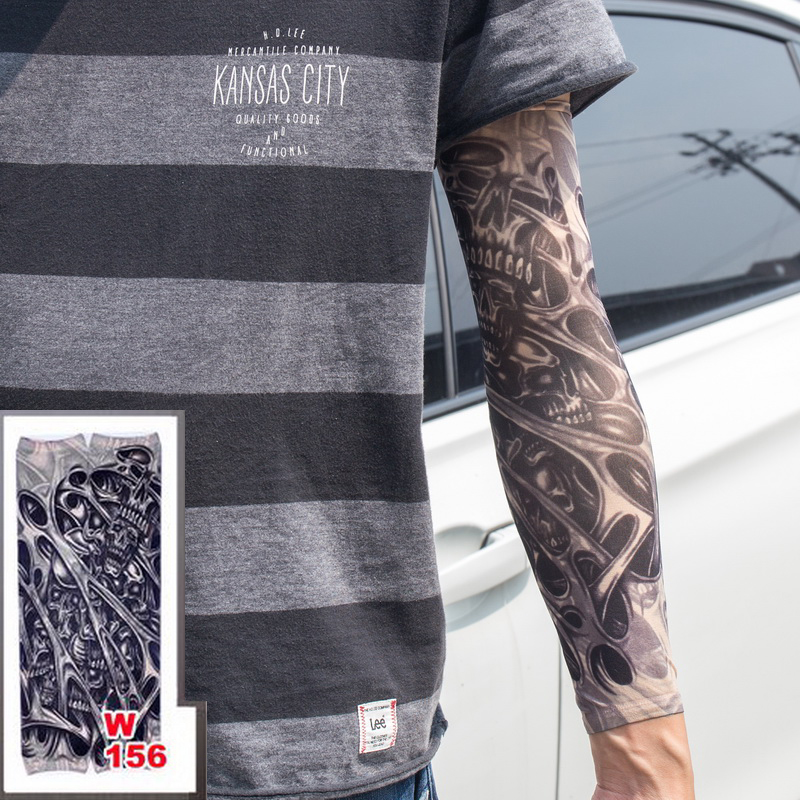 Men's Accessories Men's Arm Warmers Beautiful Women Men Tattoo Print Arm Warmer Fashion Thin Spring Summer Sun Protect Long Arm Warmer Party Decor Sleeves