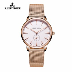 Rafa Tiger/RT na co dzień zegarki dla par dla mężczyzn analogowy zegarek kwarcowy prosty styl złota róża Tone zegarki RGA820