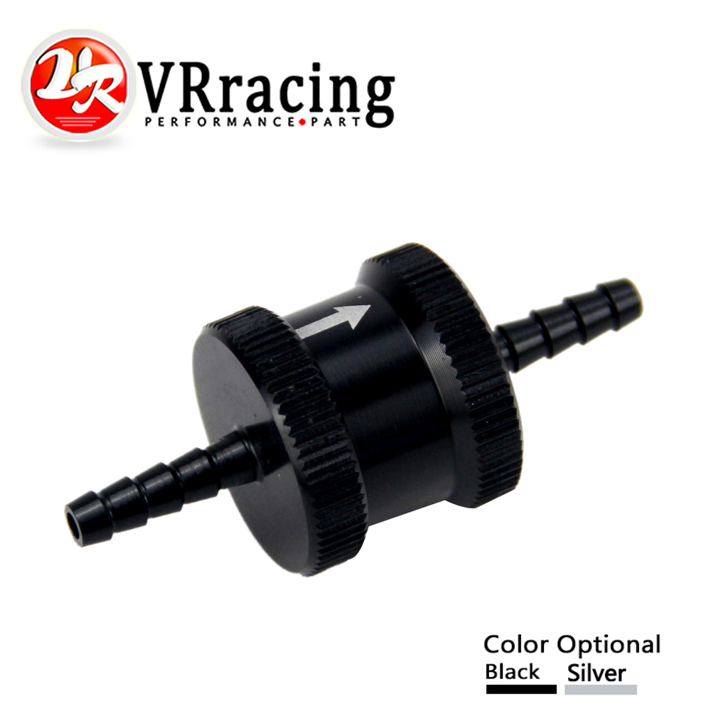 VR RACING - 1/8 4mm Non Return One Way Fuel Check Valve Aluminium Alloy Petrol Diesel VR-FCV04