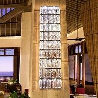 Длинная стена света Гостиная LED Настенные светильники современные бра настенные Отеля Большие настенные Бра хрустальные Подсветка для кар