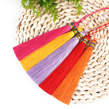 12pcs/lot 13cm DIY Colourful line tassel silk fringe sewing bang trim decorative key tassels for curtain home decoration