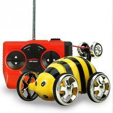 Original Create Toys 2152B 27MHz 2CH Mini RC Rolling Rotating Wheel Car Kids' toys Stunt Car