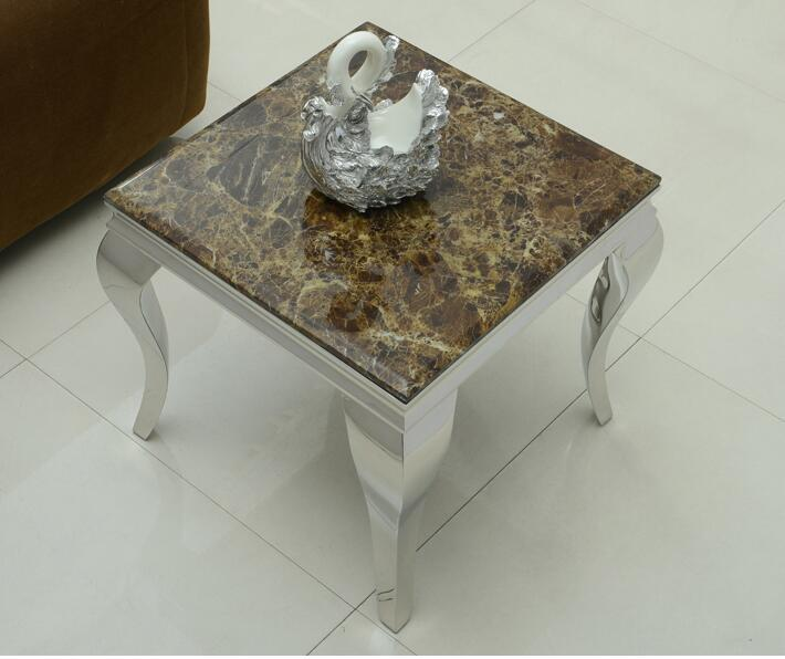 buy marble stainless steel small tea table coffee table from reliable coffee. Black Bedroom Furniture Sets. Home Design Ideas