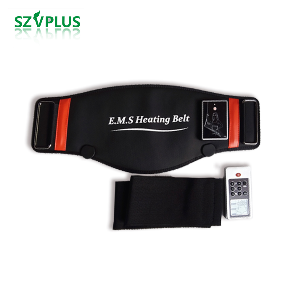 EMS microcurrents Heating back waist massager slimming losing weight belt simulator for muscles trainer fitness massage machine ems trainer belt simulator back waist muscle simulator electric slimming belt back massage belt acupuncture waist trainer