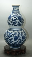 Fine Chinese Old Blue and white porcelain glaze gourd vase classic ceramic home decor decoration vases Qianlong mark