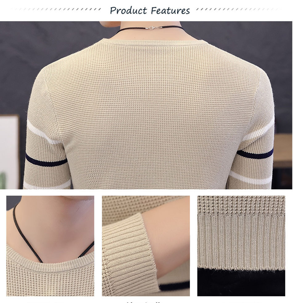 Image 5 - Varsanol Autumn Mens Sweater And Pullovers O Neck Casual Sweaters Long Sleeve 2018 New Arrival Coats Wholesale Drop Ship(China)-in Pullovers from Men's Clothing