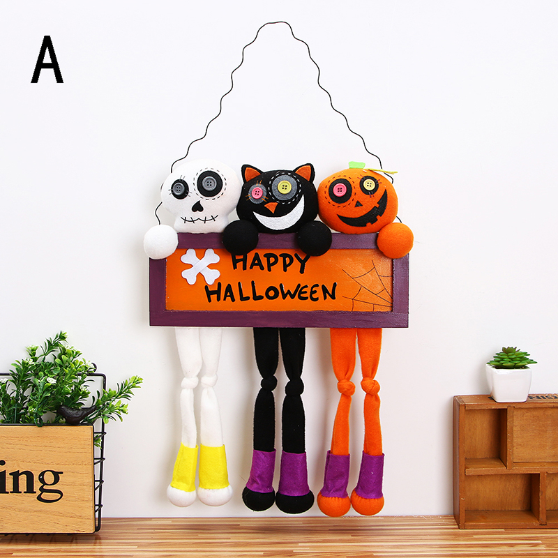 2017 new 2 styles high quality 1pcs happy halloween hanging tag halloween decoration props dolls door