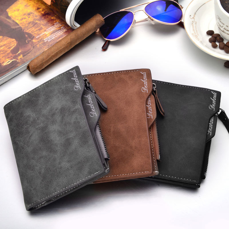 Wallet Men Soft Leather wallet with remo