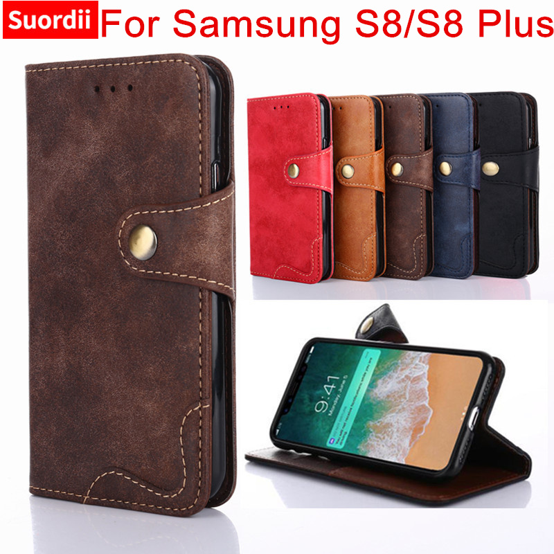 Flip Wallet Case For Samsung S8 Plus Leather Magnetic Cover For Samsung Galaxy S8 S8 Plus Phone Holder Cover
