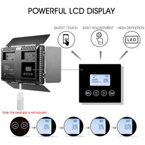 Image 4 - Capsaver 2 en 1 Kit LED lumière vidéo Studio Photo LED panneau éclairage photographique avec trépied sac batterie 600 LED 5500K CRI 95