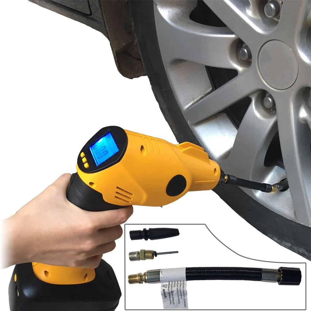 Rechargeable Cordless Tire Inflator Automatic Wireless Handheld Vehicle Pump Multifunctional Portable Emergency Air CompressorRechargeable Cordless Tire Inflator Automatic Wireless Handheld Vehicle Pump Multifunctional Portable Emergency Air Compressor