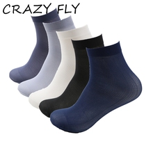 CRAZY FLY 10 Pairs lot Summer Male Thin Short Socks Stretching Crystal Socks Soft And Breathable