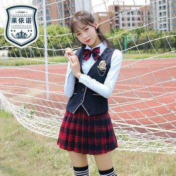 Japanese Sailor Girl School Uniform Autumn And Winter Vest Suit  Anime School Uniform Cosplay