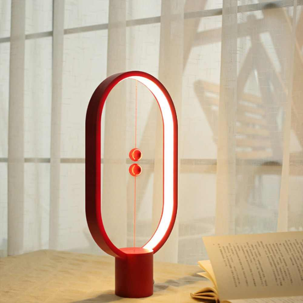 balance lamp - Ellipse magnetic switch USB powered Warm Eye-Care LED Lamp, Table Night Lamp, Decoration for Bed