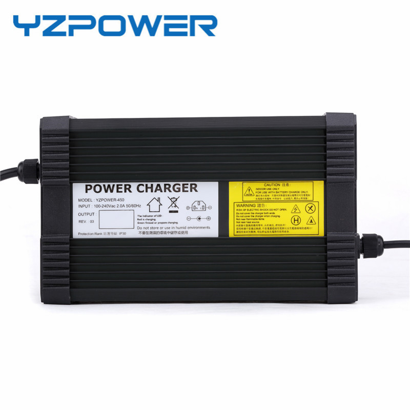 YZPOWER 54.6V 5A 6A 7A 8A Lithium Battery Charger for 48V Lithium Battery Electric Motorcycle Ebikes