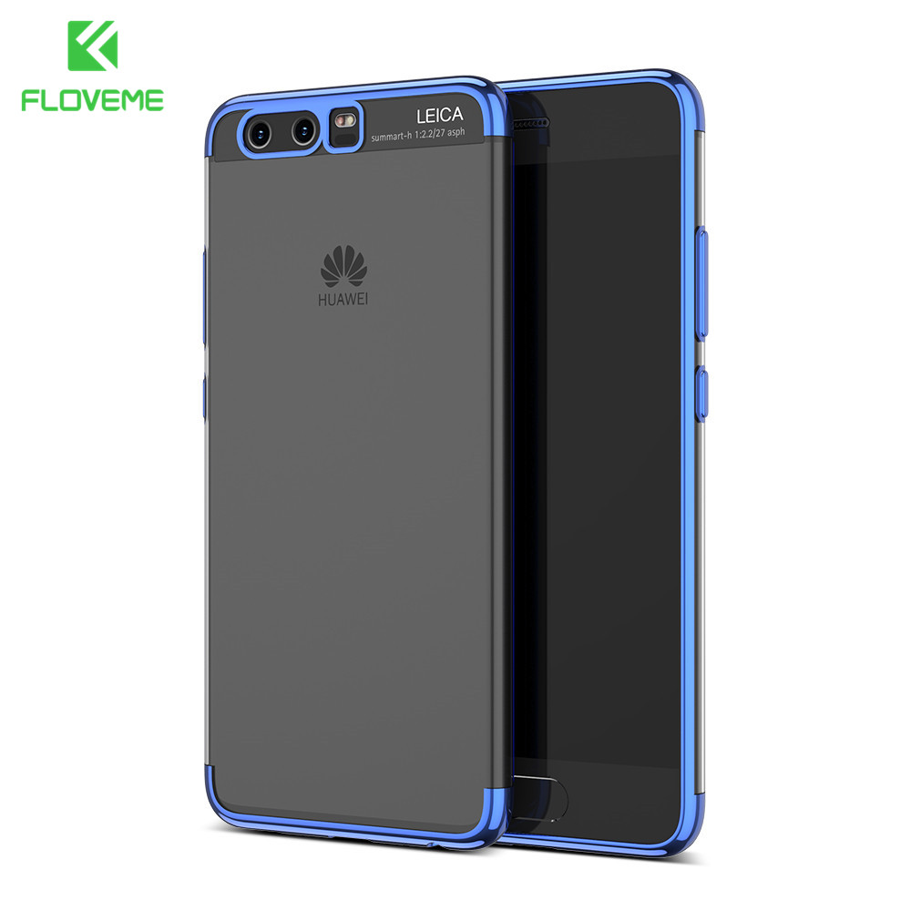 FLOVEME Soft Silicon Plated Phone Cases For Huawei P10 For Huawei P10 Plus Mate 10 Case TPU Mobile Protective Back Cover