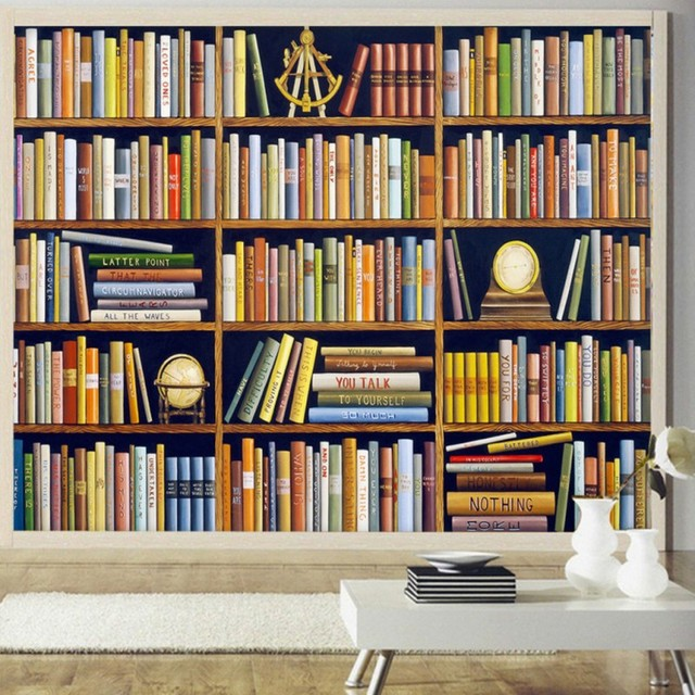 Painted Wood Bookshelves