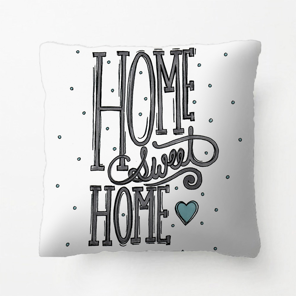 ჱhome sweet home-illustrations originales coussin décoratif coussin