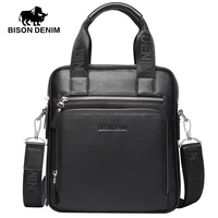 BISON DENIM 2016 New 100 Top Genuine Leather Shoulder Bag Men Messenger Bags Ror Men Commercial