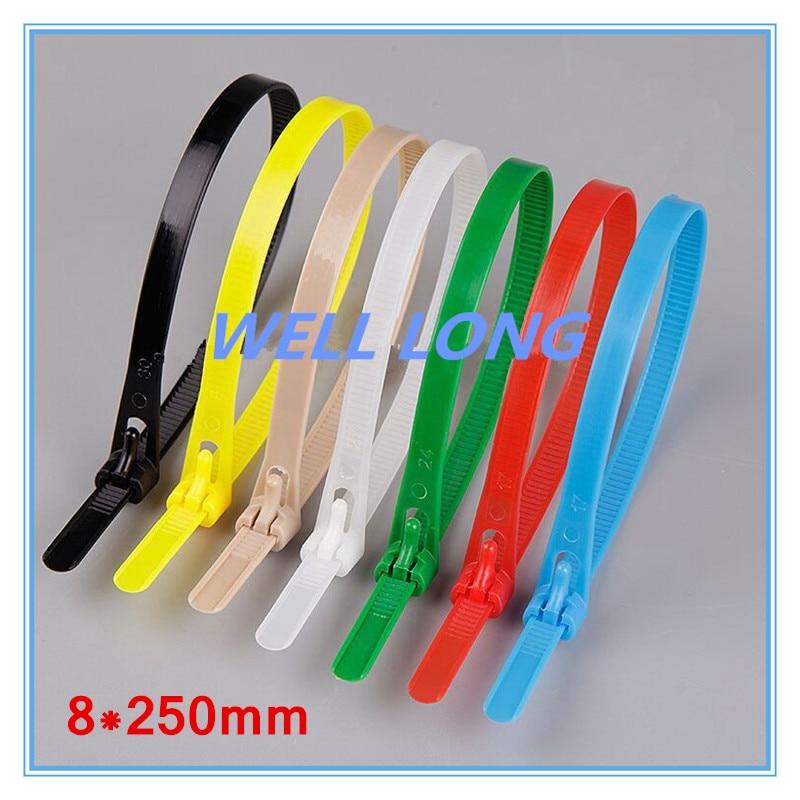 500 pcs lote 8 250mm azul abracadeiras de nylon de cor abracadeiras abracadeiras reutilizaveis