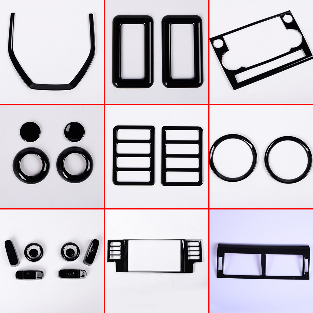 Novo! Para a Descoberta de Land Rover Sport 2015 2016 2017 2018 Carro de Luxo Todo O Interior Molduras Gloss Black Completa Kit Acessórios Do Carro