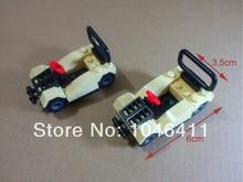 2pcs 824 officer car Mini figure fit all brand Building Block doll,Loose Brick accessory WOMA Sluban Decool mini figures