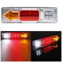 2pcs 12V Led Trailer Taillights 1 5W Trucks Tail Lights White Cover Tail Stop Reverser Indicator