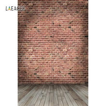 Laeacco Old Brick Wall Wooden Floor Grunge Portrait Photography Backgrounds Customized Photographic Backdrops For Photo Studio 12ft vinyl cloth dark old brick wall wood floor photo studio backgrounds for model newborn portrait photography backdrops f 257