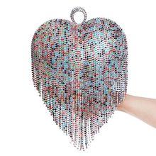 Quaste Strass Fingerring Abendtaschen Diamanten Hochzeit Handtaschen Frauen Kupplung Umhängetaschen Handtasche Tasche Handtaschen