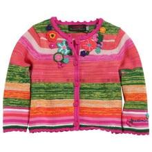 brand girls clothing 2016 spring autumn girl long sleeve navy dot knitwear cotton tee sweater coat