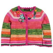Catimini девушки одежда 2016 весна осень девушка длинным рукавом темно-синий точка трикотаж хлопок тройник свитер пальто из девочек анфан 1