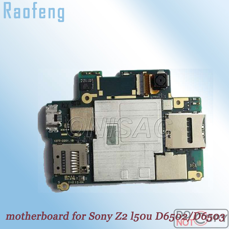 Raofeng  High quality motherboard For Sony Xperia Z2  l50u D6502 d6503  Unlocked Mainboard test  well worked before ship(China)