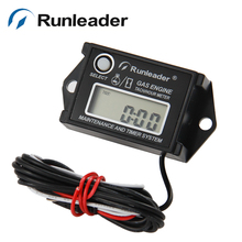 Free shipping RPM tach hour meter for GAS ENGINE jet ski chainsaw motorcycle marine PIT BIKE outboard motorboat ATV