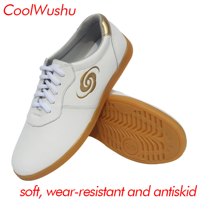 chinese tai chi shoes kung fu shoes wu shu xie taiji xie Cow Muscle Martial arts shoes CoolWushu Warm winter women and man shoes real cowhide against the stench martial arts kung fu shoes figure end of antiskid beef tendon yin and yang