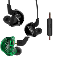 KZ ZSR Earphone Gaming 2BA 1DD Unit Noise Cancelling Headset With Mic Balanced Armature Stereo Bass