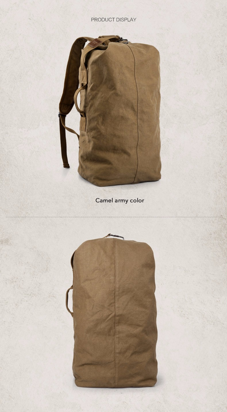 Travel Bags Edgy Trendy Casual Large Capacity Man Travel Bag Mountaineering Canvas Backpack Men Bags Canvas Bucket Shoulder Bag Luggage & Travel Bags