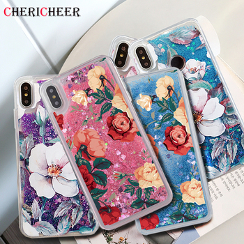 For Huawei Mate 20 Lite Case Huawei Mate 10 Lite Case Rose Flower Glitter Liquid Case For Huawei Mate 20 10 Pro 30 Lite Cover фото