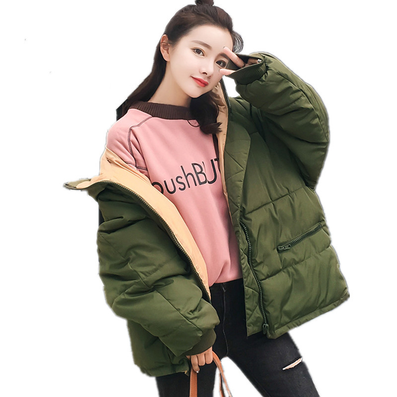 Thick Large Size Loose BF Cotton Padded Casual Women Jacket High Quality Outerwear Fashion Warm Parka Wadded Winter Coat TT3287 winter thickening women parkas women s wadded jacket outerwear fashion cotton padded jacket medium long loose casual parka c1142