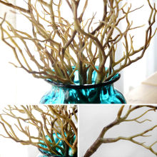 Dried Tree Home Decor Peacock Coral Branches Plastic Artificial Plants Wedding Decoration LAD-sale(China)
