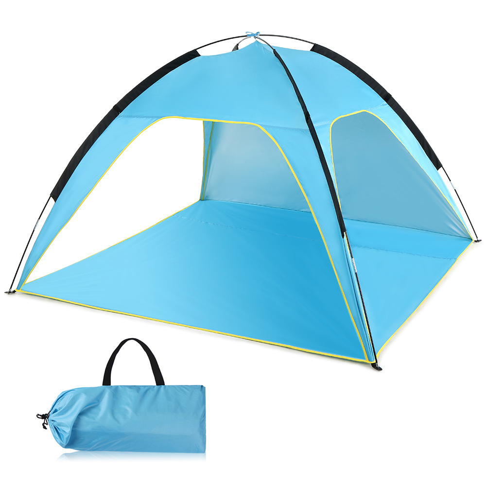 Image 2 - Lightweight Beach Tent Sun Shade Canopy UV Sun Shelter Camping Fishing Tent Camping Tent Travel Beach Tents Outdoor Camping-in Tents from Sports & Entertainment