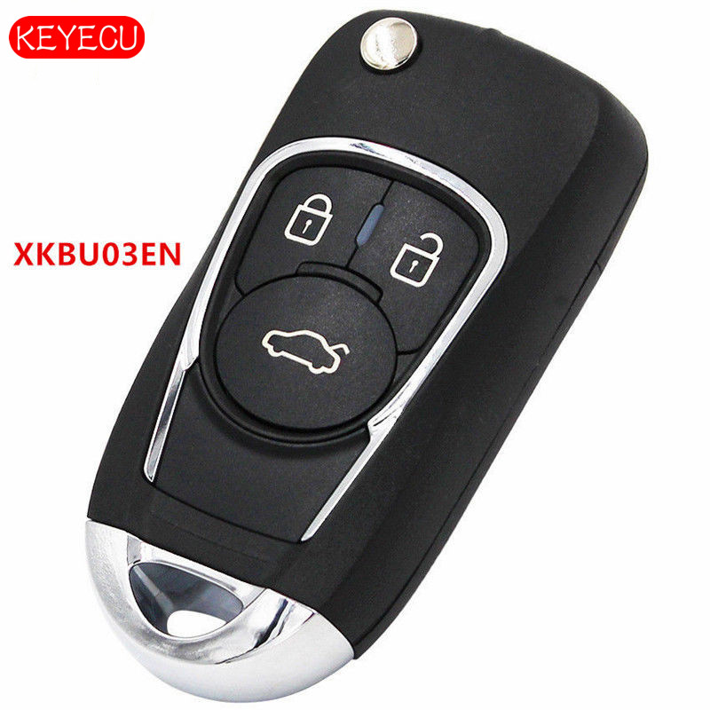 Keyecu 5PCS LOT Universal Remote Key Fob 3 Button XKBU03EN for VVDI Key Tool VVDI2 XHORSE