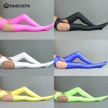 Сексуальная высокая эластичная лайкровая спандекс брюки полые носки женские гимнастические чулки зентай