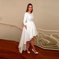 Fashion White High Low Lady Skirt High Quality Floor Length Saia Jeans Custom Made Jupe Longue