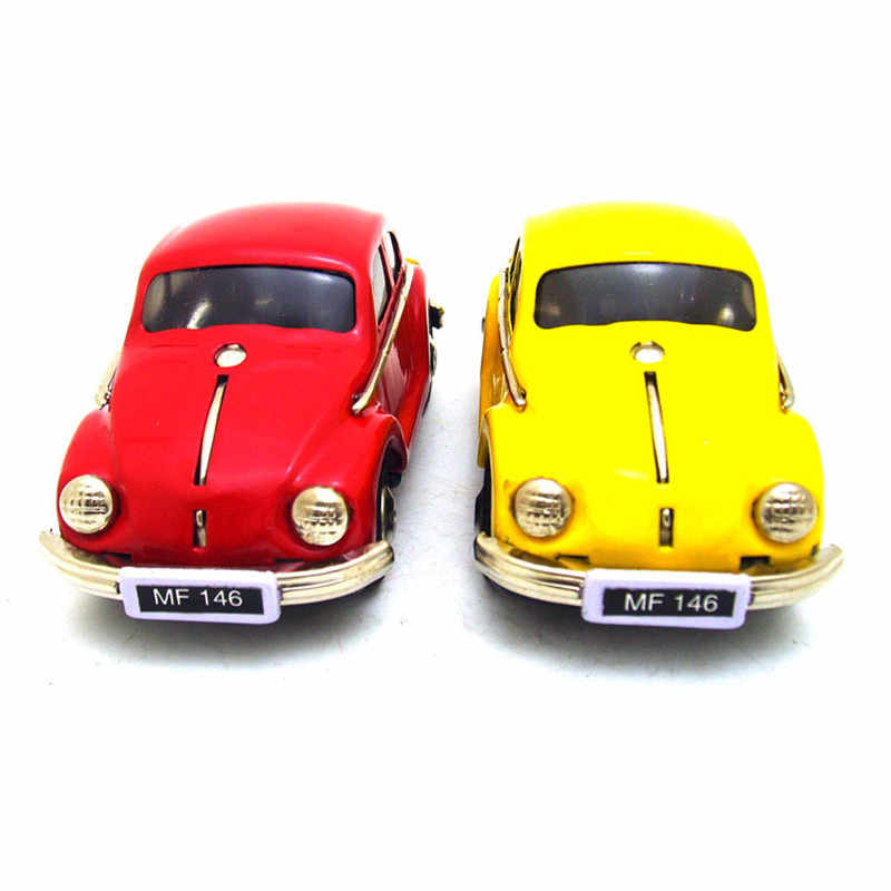 Vintage Clockwork Wind Up Beetle Car Toys Photography Children Kids Adult Beetle Car Tin Toys Classic Toy Christmas Gift