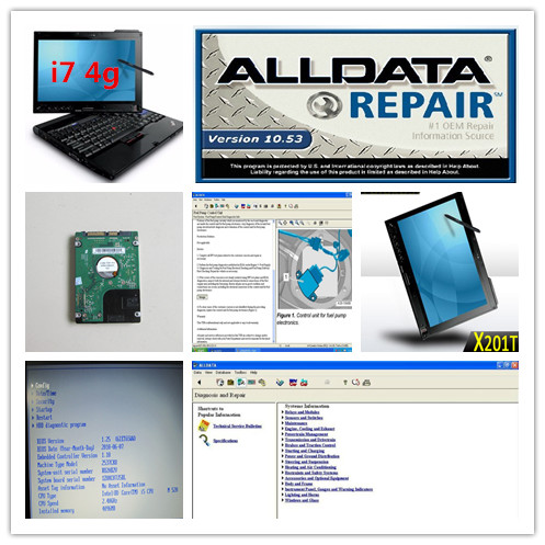 computer repair software alldata 10.53 and mitchell on demand auto repair 2in1 with laptop x201t touch screen ( i7 4g) hdd 1tb